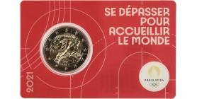2 Euros France 2021- JO Paris 2024 (Blister Rouge)