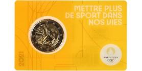 2 Euros France 2021 - JO paris 2024 (Blister Orange)