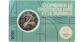 2 Euros France 2021 - JO Paris 2024 (Blister Vert)