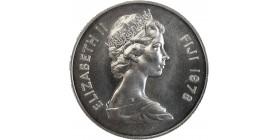10 Dollars Elisabeth II Iles Fidji Argent