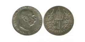 1 Couronne Francois Joseph Ier Tête Nue Autriche Argent