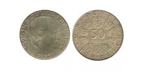 50 Schilling Autriche Argent