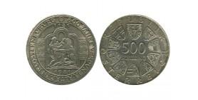 500 Schilling Autriche Argent
