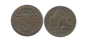 1 Centime Leopold II Légende Française Belgique