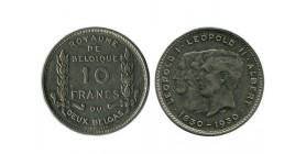 10 Francs Leopold Ier - Leopold II et Albert Ier Légende Françai Belgique