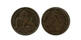 2 Centimes Albert Légende Flamande Belgique