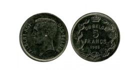 5 Francs Albert Ier Légende Française Belgique