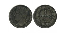 1 Franc Leopold Ier Belgique Argent