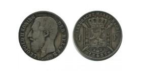 1 Franc Leopold II Légende Flamande Belgique Argent