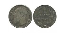 1 Franc Leopold II Légende Française Belgique Argent