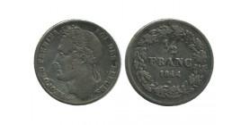 1/2 Franc Leopold Ier Belgique Argent