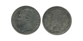 2 1/2 Francs Leopold Ier Belgique Argent