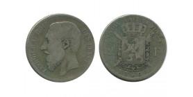 2 Francs Leopold II Légende Française Belgique Argent