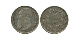 2 Francs Leopold II Légende Flamande Belgique Argent