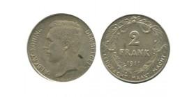 2 Francs Albert Ier Légende Flamande Belgique Argent