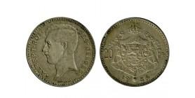 20 Francs Albert Ier Légende Française belgique argent