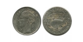 20 Francs Leopold III Belgique Argent