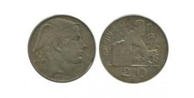 20 Francs Légende Française Belgique Argent