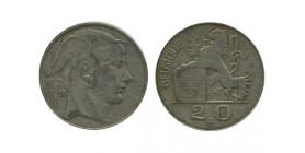 20 Francs Légende Flamande Belgique Argent