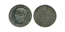 250 Francs Baudouin Ier Légende Française Belgique Argent