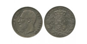 5 Francs Leopold II Belgique Argent