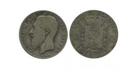 50 Centimes Leopold II Légende Française Belgique Argent