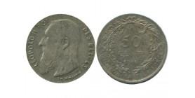 50 Centimes Leopold II Légende Flamande Belgique Argent
