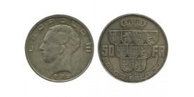 50 Francs Leopold III Légende Flamande Belgique Argent