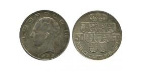 50 Francs Leopold III Légende Française Belgique Argent