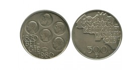 500 Francs 150 Ans de L'indépendance Légende Flamande Belgique Argent