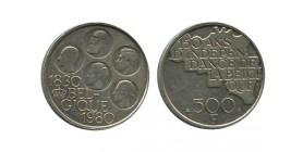 500 Francs 150 Ans de L'indépendance Légende Française Belgique Argent
