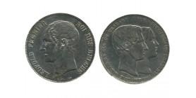 Module de 5 Francs Mariage du Duc de Brabant Avec Marie Henriett Belgique Argent