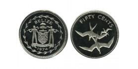 50 Cents Bélize Argent