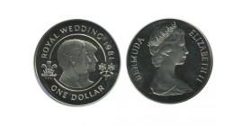 1 Dollar Elisabeth II Bermudes Argent