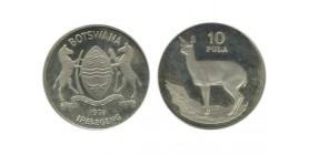 10 Pula Botswana Argent