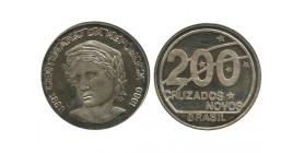 200 Cruzados Novos Brésil Argent