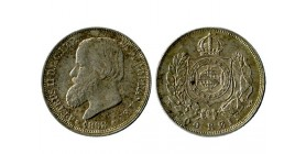 200 Reis Pedro II brésil argent