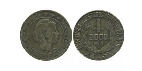 2000 Reis Brésil Argent