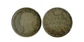 10 Cents Victoria Canada Argent