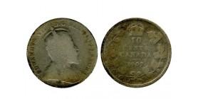 10 Cents Edouard VII canada argent