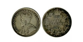 10 Cents Georges V Canada Argent