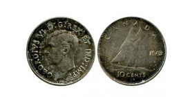 10 Cents Georges VI canada argent