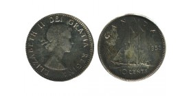 10 Cents Elisabeth II Canada Argent