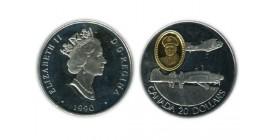 20 Dollars Elisabeth II Canada Argent