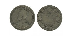 25 Cents Georges V Canada Argent