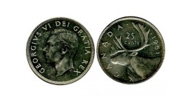 25 Cents Georges VI Canada Argent