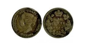5 Cents Victoria Canada Argent