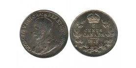 5 Cents Georges V Canada Argent