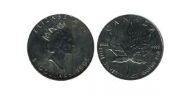 5 Dollars Elisabeth II Canada Argent