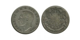 50 Cents Georges VI Canada Argent